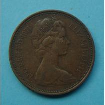 21 - Inglaterra 2 New Pence 1971, 26mm Elizabeth - Bronze