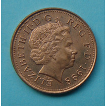23 - Inglaterra 2 New Pence 1998, 26mm Elizabeth - Bronze