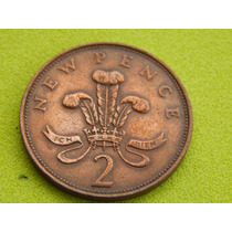 Moeda Da Inglaterra De 1971 - 2 New Pence (ref 213)