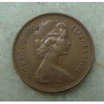 9657 Inglaterra 2 New Pence, 1980 , Bronze, 26 Mm