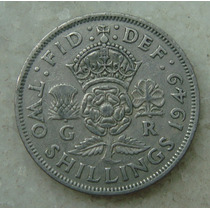 Inglaterra 1949 G R Two Shillings, Niquel, Georgivs, 28 Mm