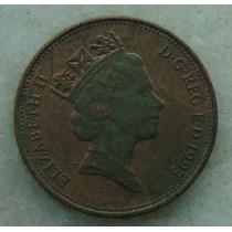 9090 Inglaterra 2 New Pence, 1993 , Bronze, 26 Mm