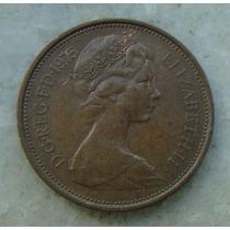 Inglaterra 2 New Pence, 1975 , Bronze, 26 Mm, Elizabeth
