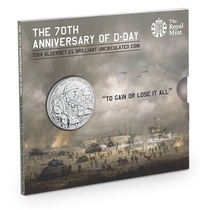 Moeda Comemorativa 70 Anos Do Dia D - Segunda Guerra Mundial