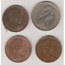 866 - 2 E 10 New Pence Inglaterra O Lote Por R$ 15,00
