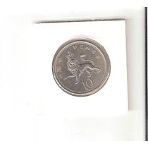 Linda Moeda Da Inglaterra De 10 New Pence - Vejam A Foto !!!