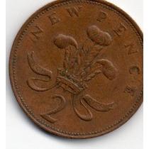 Moeda Inglaterra 2 New Pence 1971
