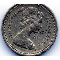 Moeda De Coleção One Pound 1983, Inglaterra, Elizabeth Ii