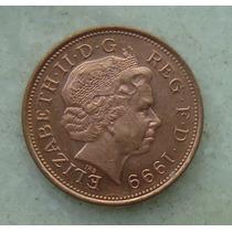 1498 Inglaterra 1999 Two Pence 26mm - Bronze Elizabeth
