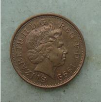 1525 Inglaterra Elizabeth 1999 Two Pence 26mm - Bronze Aço
