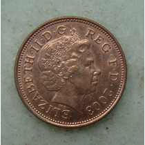1524 Inglaterra Elizabeth 2003 Two Pence 26mm - Bronze Aço