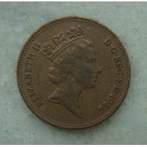 1556 Inglaterra 2 New Pence, 1986 , Elizabeth Bronze, 26 Mm