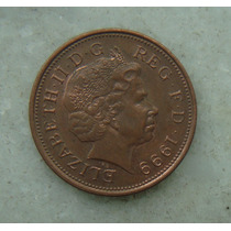 1554 Inglaterra 2 New Pence, 1999 , Elizabeth Bronze, 26 Mm
