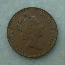 1596 Inglaterra 1989 Two Pence Elizabeth I I 26mm - Bronze