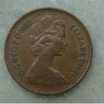 1699 Inglaterra Elizabeth 1980 Two Pence 26mm - Bronze Aço