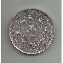 Moeda De Prata. Inglaterra. Ano 1993. 5 Pounds.