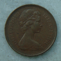 1903 Inglaterra 1971 Two Pence 26mm - Bronze Elizabeth