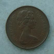 1906 Inglaterra 1971 Two Pence 26mm - Bronze Elizabeth