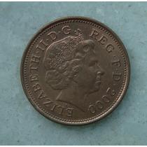 1899 Inglaterra 2000 Two Pence 26mm - Bronze Elizabeth