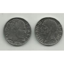 11660b - Itália - 1941 - 20 Centesimi - Cara Dos Dois Lados