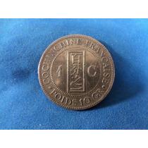Moeda Antiga - Cochinchina 1 Centime - 1884 A - Bronze- Rara