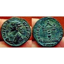 Probus, Bronze. Moeda Antiga Romana. Templo. Imperio Romano
