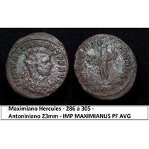 Moeda Imperio Romano Maximiano Hercules 23 Mm Roma Antiga