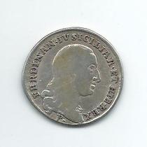 Estados Italianos Moeda De Prata - Nápoles 20 Grana 1798