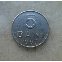 5035 Republica Socialista Romenia 5 Bani, 1963 Inox, 10mm