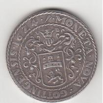 Moeda Antiga Data 1624 40 Mm 25,3 Gr Linda Réplica R$ 1,00