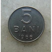 4812 Republica Socialista Romenia 5 Bani, 1966 Inox, 10mm