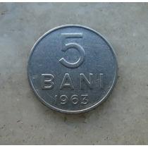 5035 Republica Socialista Romenia 5 Bani, 1963 Inox, 10mm