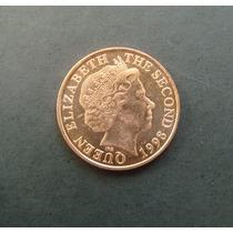 3323 Bailwick Of Jersey, Moeda Two Pence 1998, 25mm Aço Inox