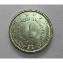 Iuguslávia: Bela Moeda De 1 Dinar De 1981 Fc