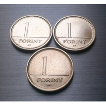 Set De 3 Moedas Da Hungria - 1 Forint - Mbc