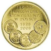Polônia Moeda Comemorativa 2009 2 Zl180 Anos Banco Central