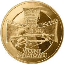 Polônia Moeda 2 Zl 60 Anos Da Segunda Guerra 2005 Fc