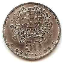 Moeda Portugual 50 Centavos 1944 -mbc