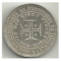 200 Réis 1898 - Portugal - 400 Anos Descobrimentos - Prata