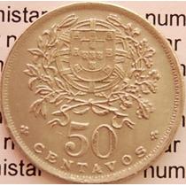 Moeda Portuguesa 50 Centavos Portugal Alpaca Objetos Antigos