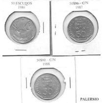2557 - Portugal - 50 Escudos 1986/87/88