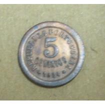 Portugal: Bela Moeda 5 Centavos 1924 Soberba