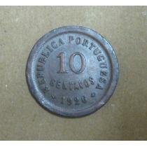 Portugal: Bela Moeda 10 Centavos 1926 Mbc/soberba