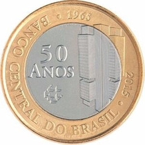 Moeda 1 Real 50 Anos Bacen Banco Central Lançamento Novidade