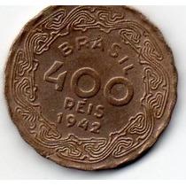 Moeda 400 Reis 1942 Ref 174