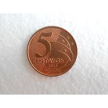 Moeda Rara De 5 Centavos 40 Únidades Ano 2014 Escassa Oferta