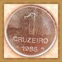 Moeda 1 Cruzeiro 4 Cana De Açúcar Brasil Objetos Antigos