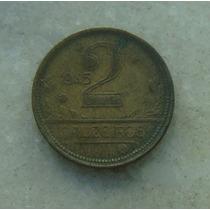 8746 - Brasil 2 Cruzeiros 1945, Bron/alum - Ver Fotos! 25mm