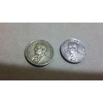 Moedas 10 Centavos 1943- 1 Níquel Rosa E 1 Bronze-alumínio