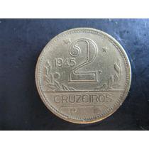 Moeda De 2 Cruzeiros De 1945 - Aspas